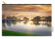 Gold Sunset At The Lake Carry-all Pouch