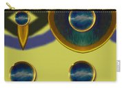 Golden Abstracte Carry-all Pouch
