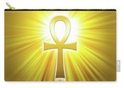 Golden Ankh With Sunbeams Carry-all Pouch