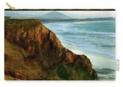 Golden Beach Cliff Side  Painterly Carry-all Pouch