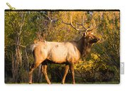 Golden Bull Elk Portrait Carry-all Pouch