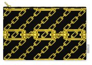 Golden Chains With Black Background Seamless Texture Carry-all Pouch
