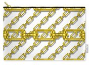 Golden Chains With White Background Seamless Texture Carry-all Pouch