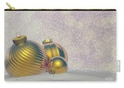 Golden Christmas Balls - 3d Render Carry-all Pouch