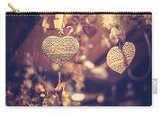 Golden Christmas Hearts Carry-all Pouch