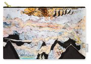 Golden Eagle Flies Above Clouds And Mountains Carry-all Pouch by Carol  Law Conklin