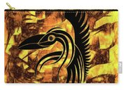 Golden Flight Contemporary Abstract Carry-all Pouch