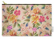 Golden Flitch Digital Vintage Retro  Glitched Pastel Flowers  Floral Design Pattern Carry-all Pouch
