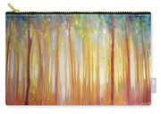 Golden Forest Hidden Unicorn - Large Original Oil Painting By Gill Bustamante Carry-all Pouch