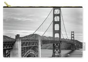 Golden Gate Bridge Black And White Carry-all Pouch
