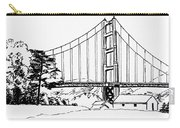 Golden Gate Bridge Black-n-white Carry-all Pouch