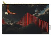 Golden Gate Bridge In Heavy Fog Clouds With Eagle Carry-all Pouch