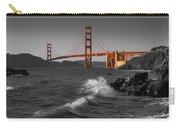Golden Gate Bridge Sunset Study 1 Bw Carry-all Pouch