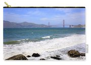Golden Gate Bridge With Rocky Beach Carry-all Pouch