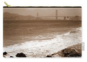 Golden Gate Bridge With Shore - Sepia Carry-all Pouch
