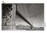 Golden Gate From The Water - Bw Carry-all Pouch by Darcy Michaelchuk