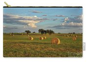 Golden Glow Over Haybales Carry-all Pouch