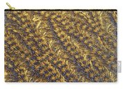 Golden Grains - Hoarfrost On A Solar Panel Carry-all Pouch
