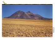 Golden Grasslands And Miniques Volcano Chile Carry-all Pouch