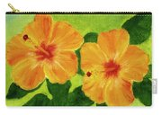 Golden Hawaii Hibiscus Flower #25 Carry-all Pouch