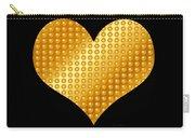 Golden Heart Black  Carry-all Pouch