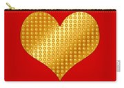 Golden Heart Red Carry-all Pouch