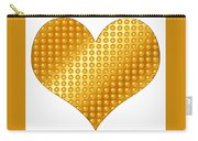 Golden Heart White Carry-all Pouch
