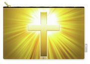 Golden Latin Cross With Sunbeams Carry-all Pouch
