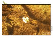 Golden Leaf In Water Carry-all Pouch
