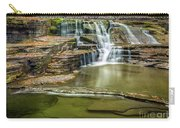 Golden Leaves And Mossy Tiers Of Enfield Glen Waterfall Carry-all Pouch