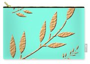 Golden Leaves On Aqua Carry-all Pouch