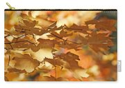 Golden Light Autumn Maple Leaves Carry-all Pouch