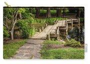 Golden Light On Footbridge Japanese Garden Maymont Carry-all Pouch