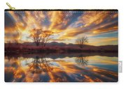 Golden Light On The Pond Carry-all Pouch