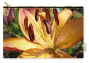 Golden Lily Flower Orange Brown Lilies Art Prints Baslee Troutman Carry-all Pouch