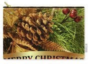 Golden Merry Christmas  Carry-all Pouch