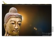 Golden Old Buddha Head Carry-all Pouch