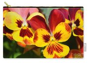 Golden Pansies Carry-all Pouch