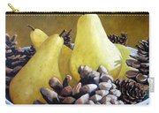 Golden Pears And Pine Cones Carry-all Pouch