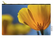 Golden Poppy Reaching For The Skies  Carry-all Pouch
