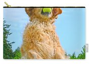 Golden Retriever Catch The Ball  Carry-all Pouch