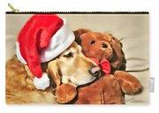 Golden Retriever Dog Christmas Teddy Bear Carry-all Pouch