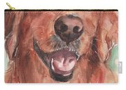 Golden Retriever Dog In Watercolori Carry-all Pouch