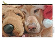 Golden Retriever Dog Santa Hat And Friend Carry-all Pouch