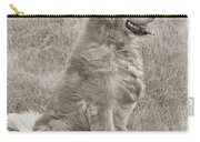 Golden Retriever Dog Sepia Carry-all Pouch by Jennie Marie Schell