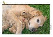 Golden Retriever Dog Teddy Bear Love Carry-all Pouch