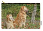 Golden Retriever Dogs In Autumn Carry-all Pouch