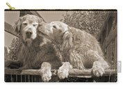 Golden Retriever Dogs The Kiss Sepia Carry-all Pouch