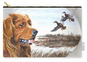 Golden Retriever With Marsh Scene Carry-all Pouch