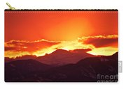 Golden Rocky Mountain Sunset Carry-all Pouch